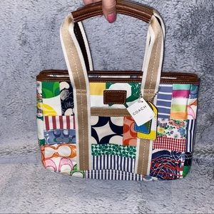 Patch Work Coach Small Tote Bag NWT